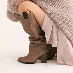 Free People Montgomery Slouch Boot Taupe Size 10